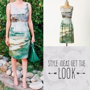 RARE Anthropologie Odille Print Dress